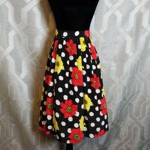 Vintage A line Pleated Skirt